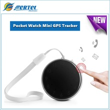 Exquisite Mini Portable Pocket Watch GPS Locator For Kids Chid Pets Cats Dogs Car Google Maps SOS Alarm GSM GPRS WIFI GPS Finder