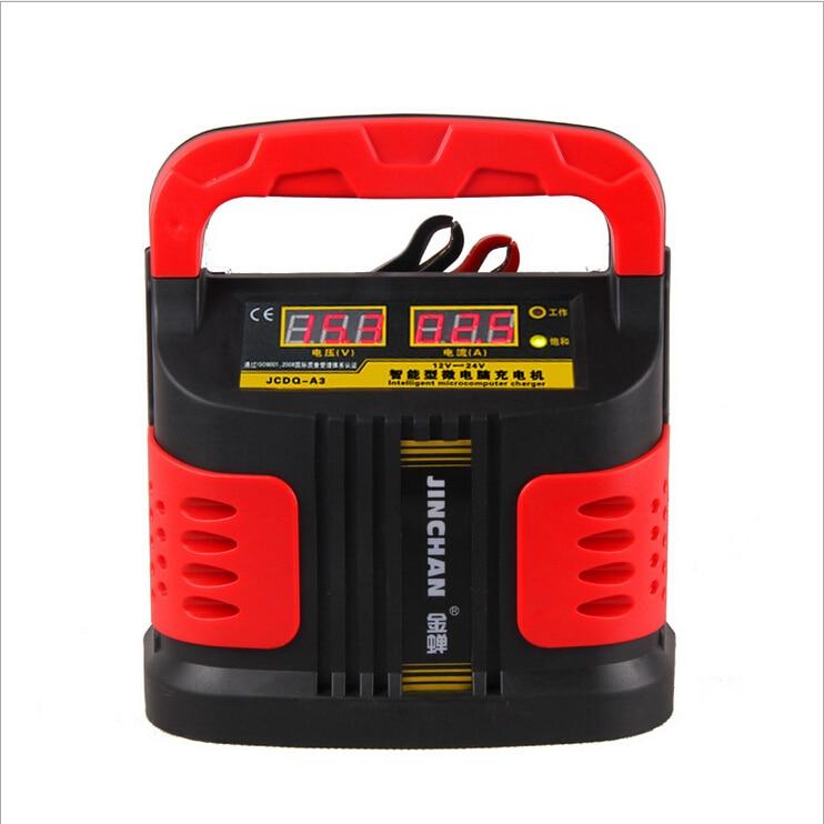 ФОТО Real JINCHAN Car battery charger 12V24V motor car battery charger intelligent pulse adjustable copper digital display