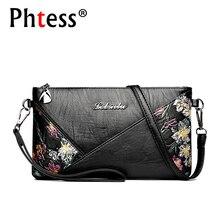 2018 для женщин кожа курьерские Сумки Малый сумки через плечо для Sac основной цветы сумка женская сумка-конверт клатч леди
