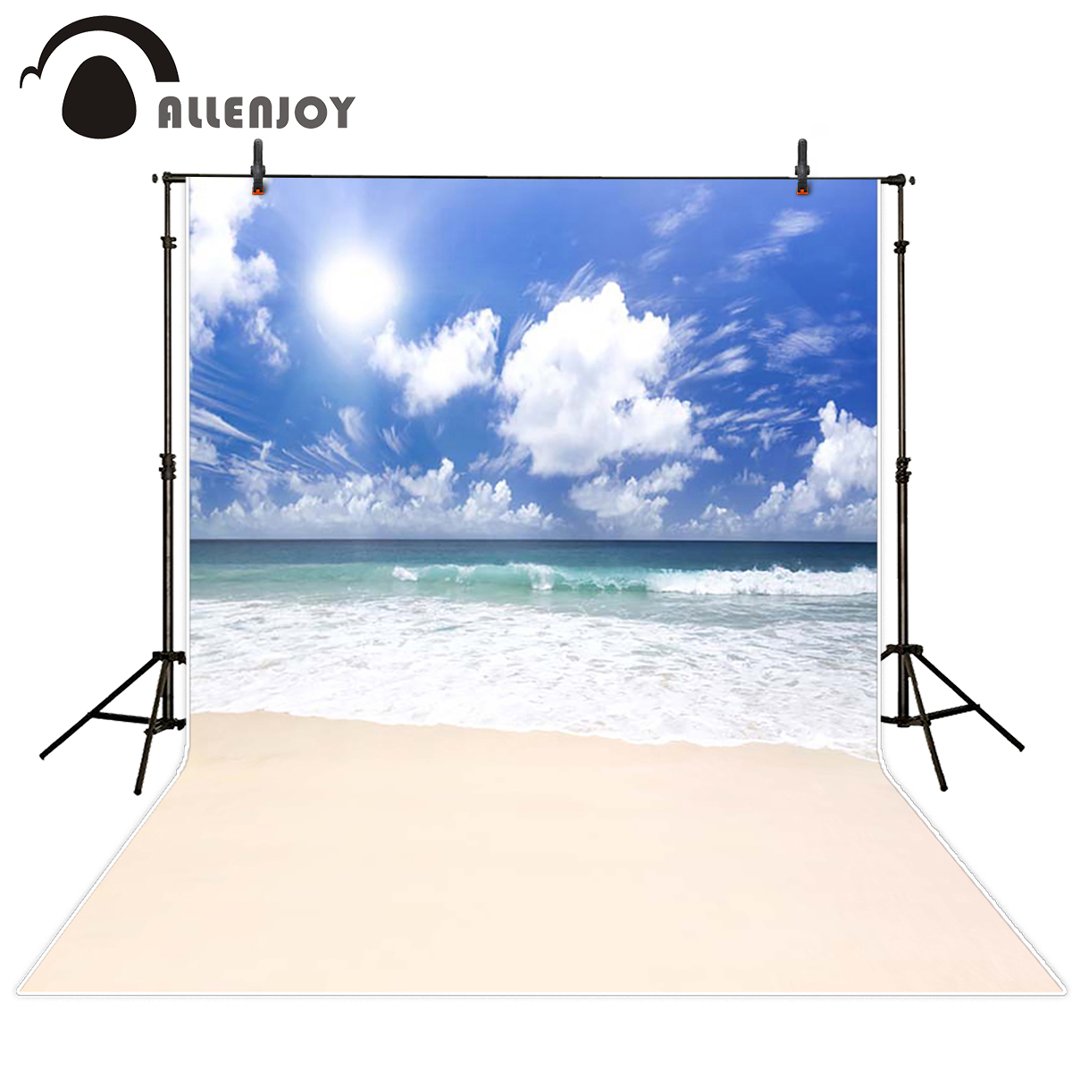 Allenjoy seaside Photo background Sunny beach summer sea sky seaside photography backdrops Background photography photocall