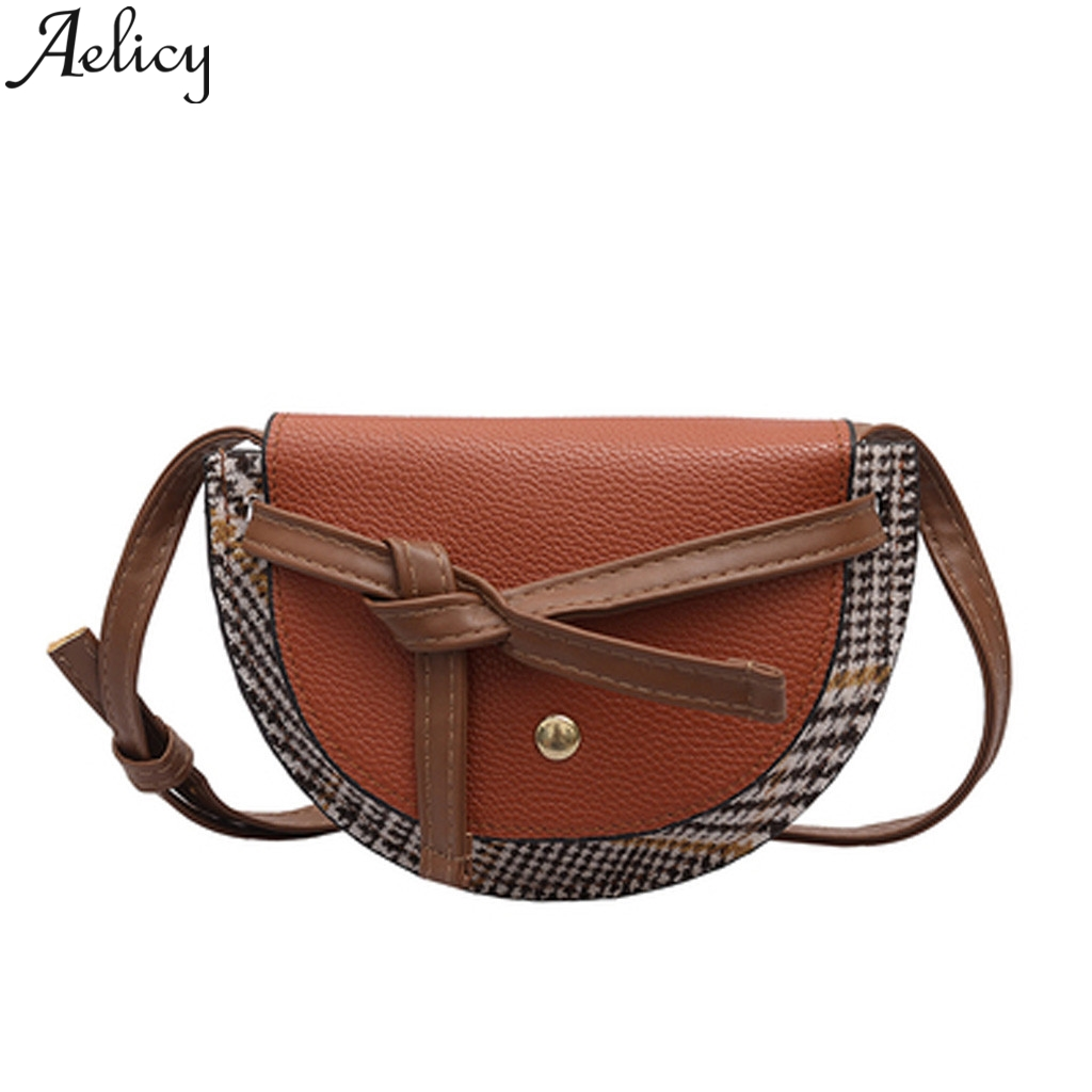 Aelicy Designer Bags Shoulder-Bag Women Ladies Famous-Brand Plaid Tassel-Woven Retro