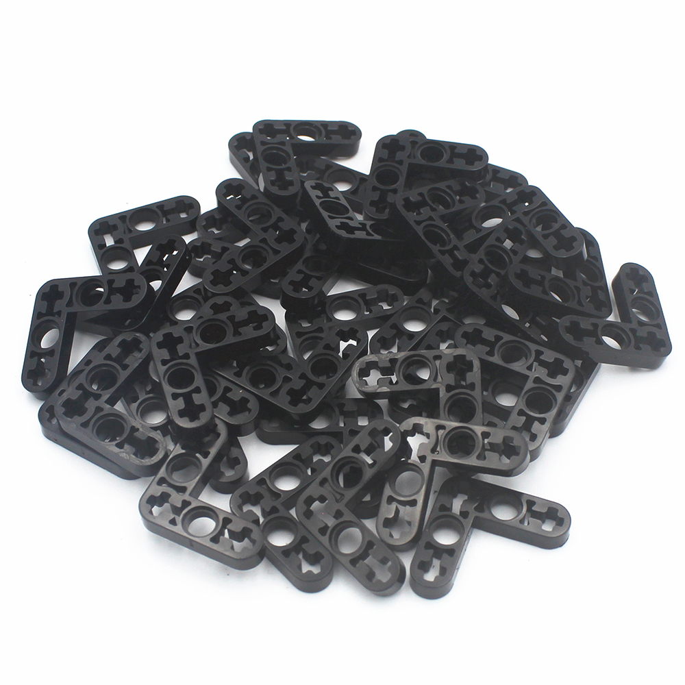 Building Blocks BulkTechnic Parts 20pcs  TECHNIC LEVER 3X3M, 90DGE Compatible With Lego For Kids Boys Toy 32056
