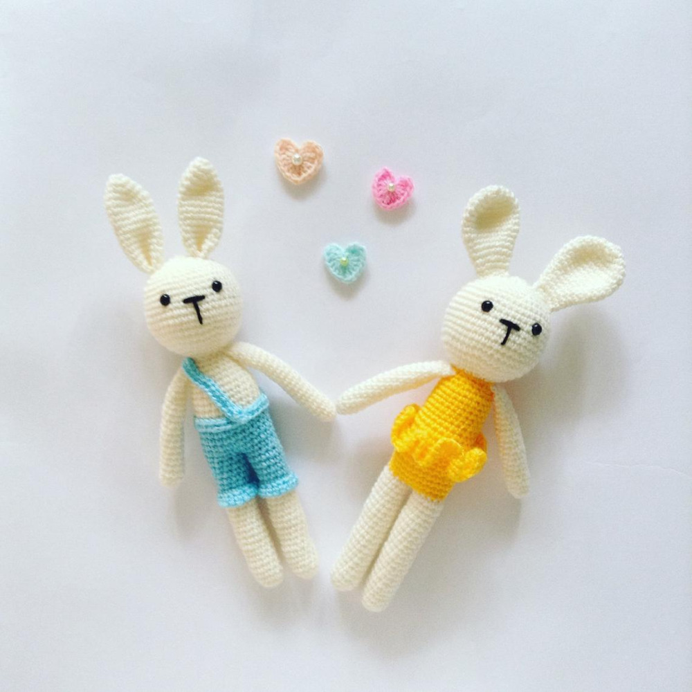 Crochet Toys  Amigurumi  Rattle Dance  Rabbit   Lover  Number  SQ0029