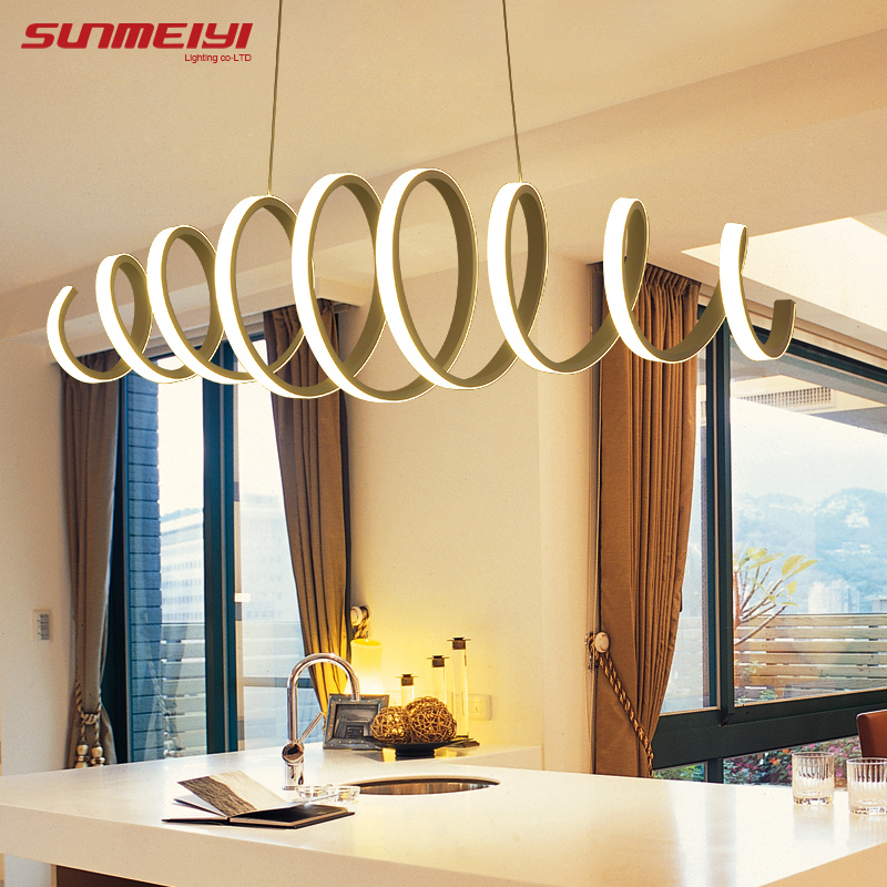 Modern Led Pendant Light For Kitchen Dining Room White