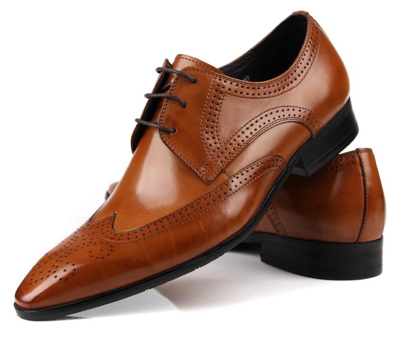 Brown Oxfords Mens Dress Shoes Genuine