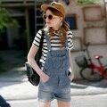 Plus Size Summer Style 2017 Korean Fashion School Vintage Playsuit Shorts Jumpsuit Denim Overalls Women macacao feminino