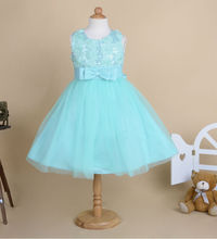 2015 New 2-8Y Girl Party Wedding Evening Sequined Flower Princess Dress Bridesmaid Floral Ball Gowns Graduation Prom Frocks Tutu