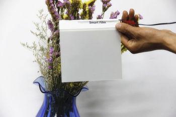15x15 cm/4.5x4.5 인치 스마트 pdlc 필름 흰색 불투명 샘플 고품질 색조 필름