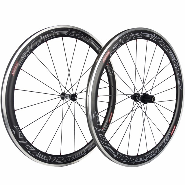 Superteam 50mm Clincher Carbon Wheelset Road Bike Wheels With