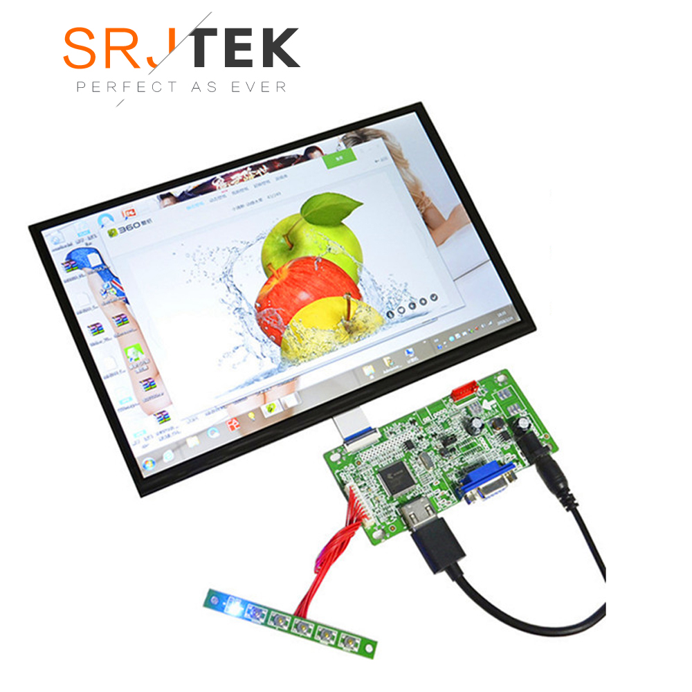 Raspberry Pi 3 15 Inch IPS LCD Capacitive LCD Display Screen DIY Kit Full View 1920*1080 HD HDMI+VGA LCD Without Touch