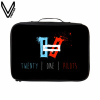 VEEVANV 2017 Hot Sale Twenty One Pilots Travel Bags For Women Big Capacity Travel Totes Waterproof
