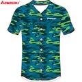 Kawasaki de marca de los hombres y las mujeres rayas Jersey de béisbol de 100% poliéster juego de softbol camiseta camisetas de alta calidad