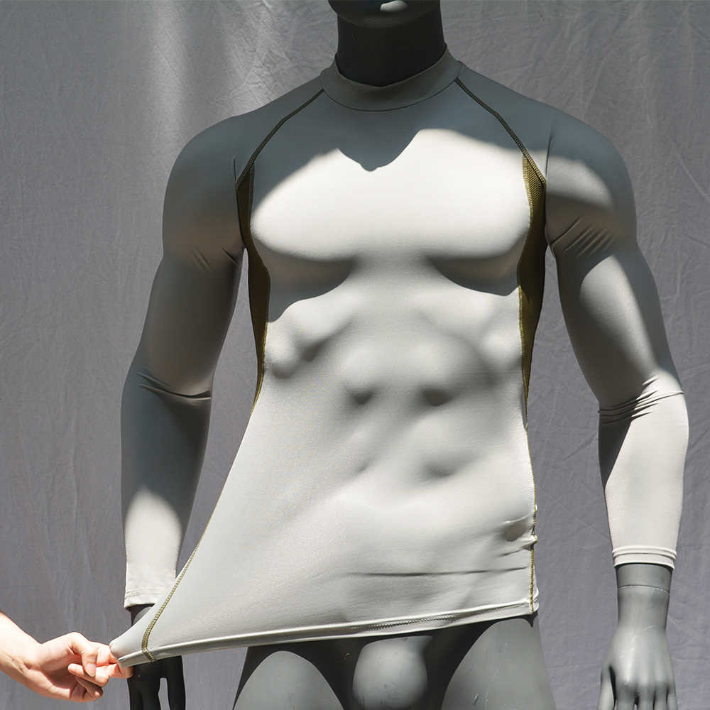 Одежда для серфинга с длинными рукавами для мужчин Рашгард новая рубашка для дайвинга для серфинга быстросохнущая мужская одежда с защитой от сыпи UPF 50 дышащая пляжная одежда 2019