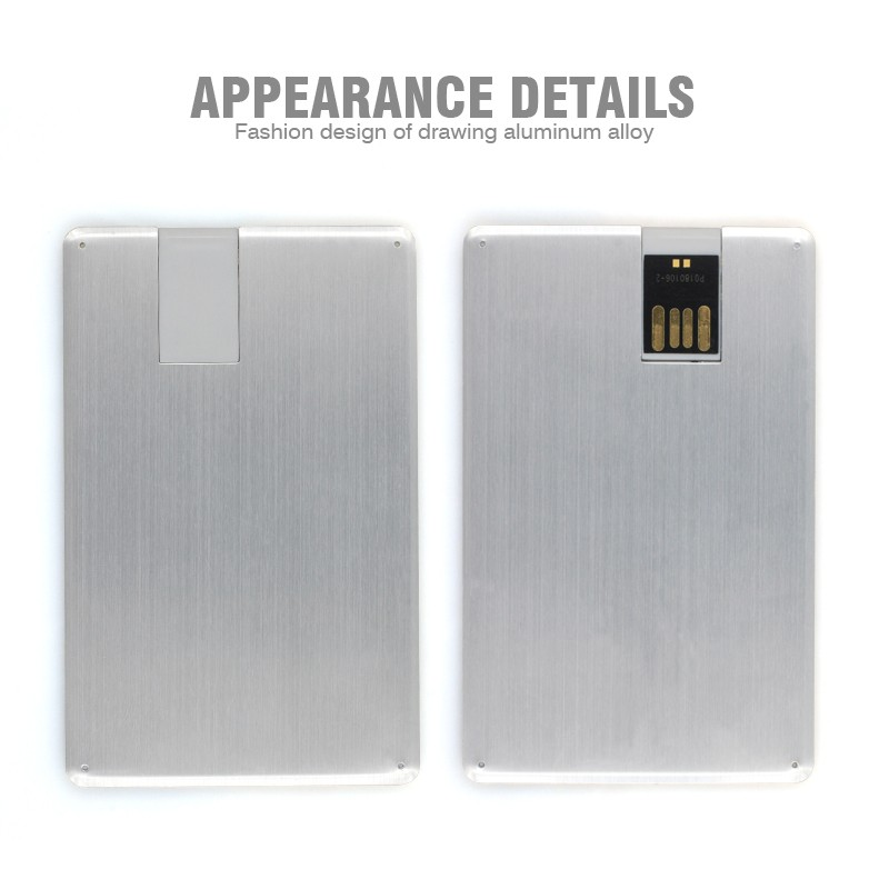 4gb 8gb 16gb 32gb ultra thin aluminum alloy customized logo business card usb flash font b