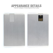 4gb 8gb 16gb 32gb ultra thin aluminum alloy customized logo business card usb flash drive