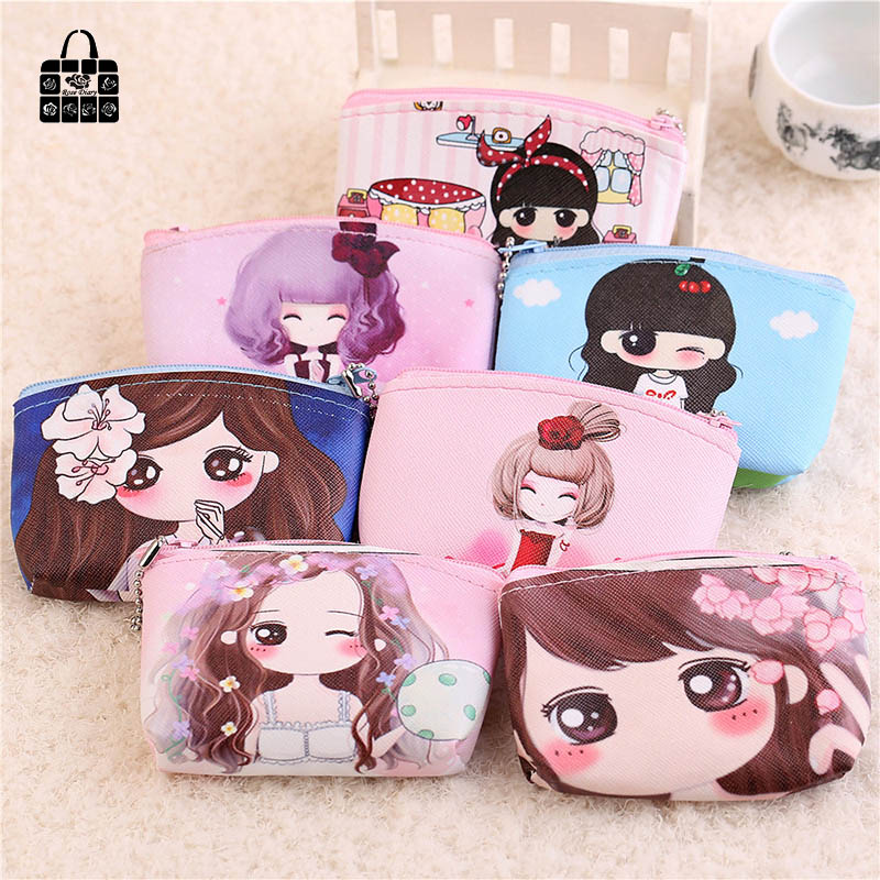 1pcs RoseDiary Women cartoon Coin Purse PULeather children Wristlet lady Wallet Girl Change Pocket Pouch zipper Bag Keys Case стоимость