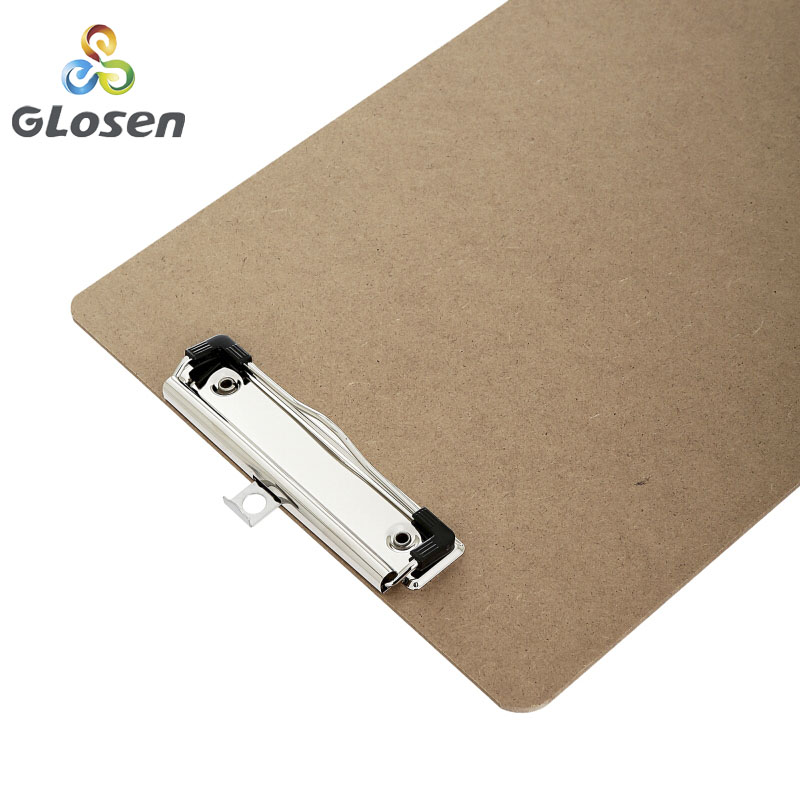Image 3 - Glosen A4 Wooden Desk Card Notebook Papers Writing File Mat Drawing Folder Butterf Clip Board Clipboard School Office Supplies-in Clipboard from Office & School Supplies