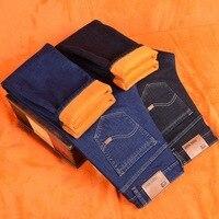 Fleece Male Warm Denim Pants Plus Size Classic Jeans Overall Men Jeans Business Casual Pants Straight