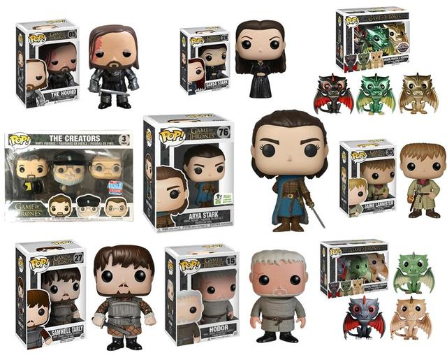 FUNKO POP NOVO ARYA STARK Game of Thrones JON SNOW DAENERYS JAIME LANNISTER MONTANHA HOUND Figura presente toy model Collection