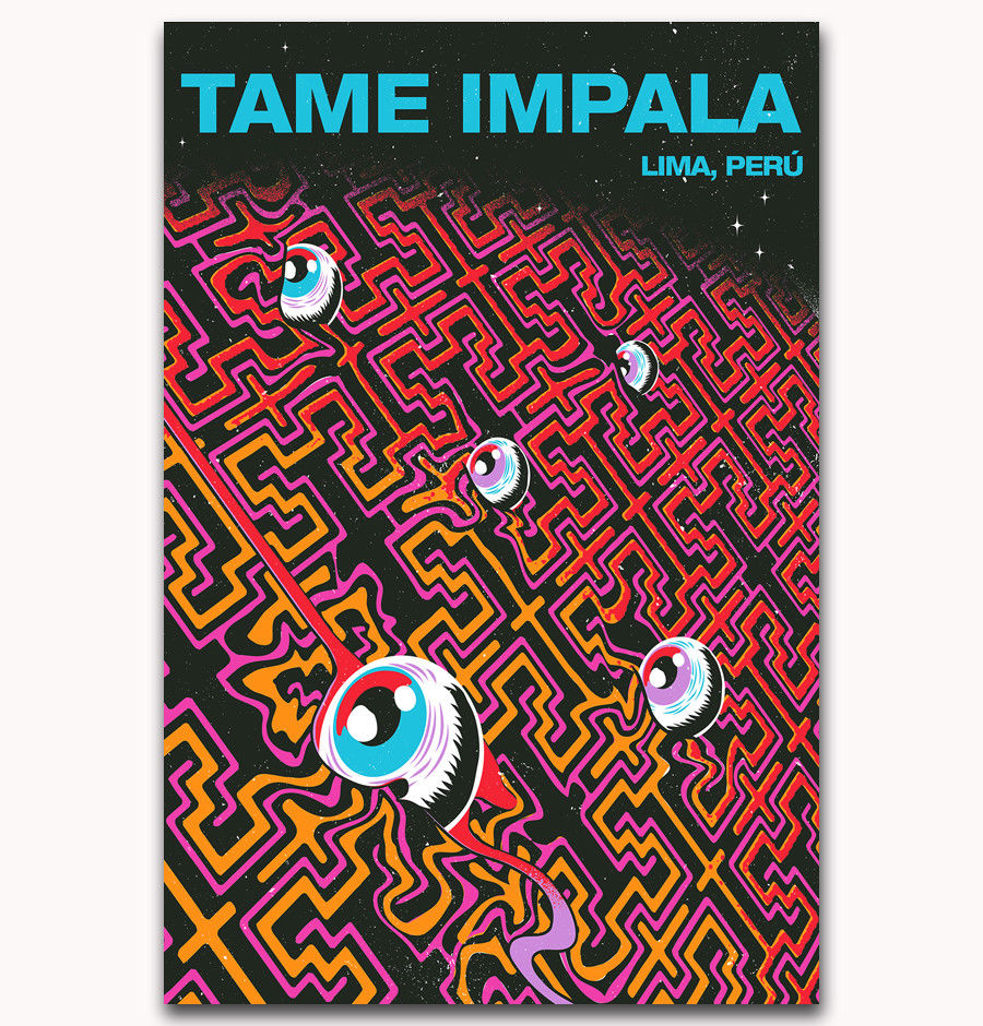 Custom Poster Tame Impala Psychedelic Rock Currents Album Art Print C-445