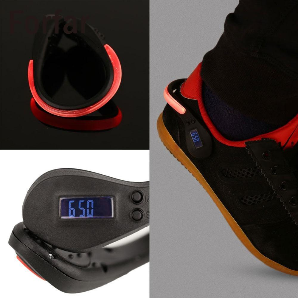 Forfar LED Luminous Shoe Clip Step Counts Pedometer Calorie Counter Sports Supply
