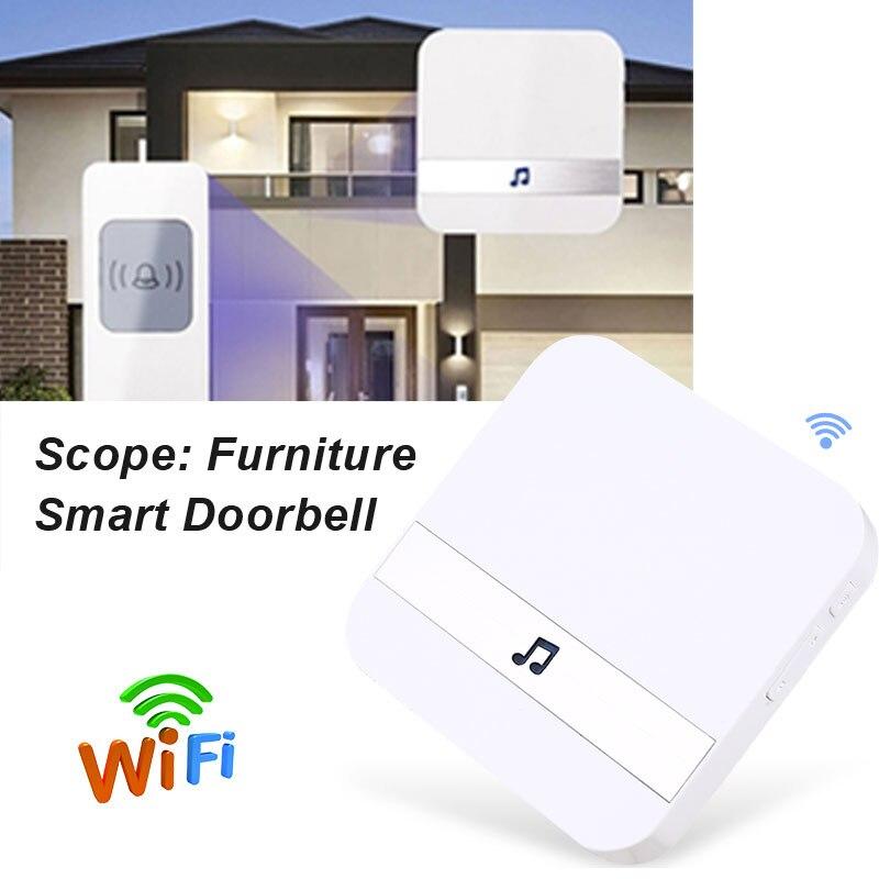 Doorbell House Waterproof Smart 4 Ce Receiver Chime Dingdong-Machine Voice-Tips Plug-In