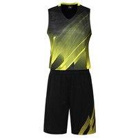 Men Basketball Jersey Sets Uniforms Breathable Cheap Throwback Basketball Sports Jerseys Basketball Shorts Quick Dry DIY