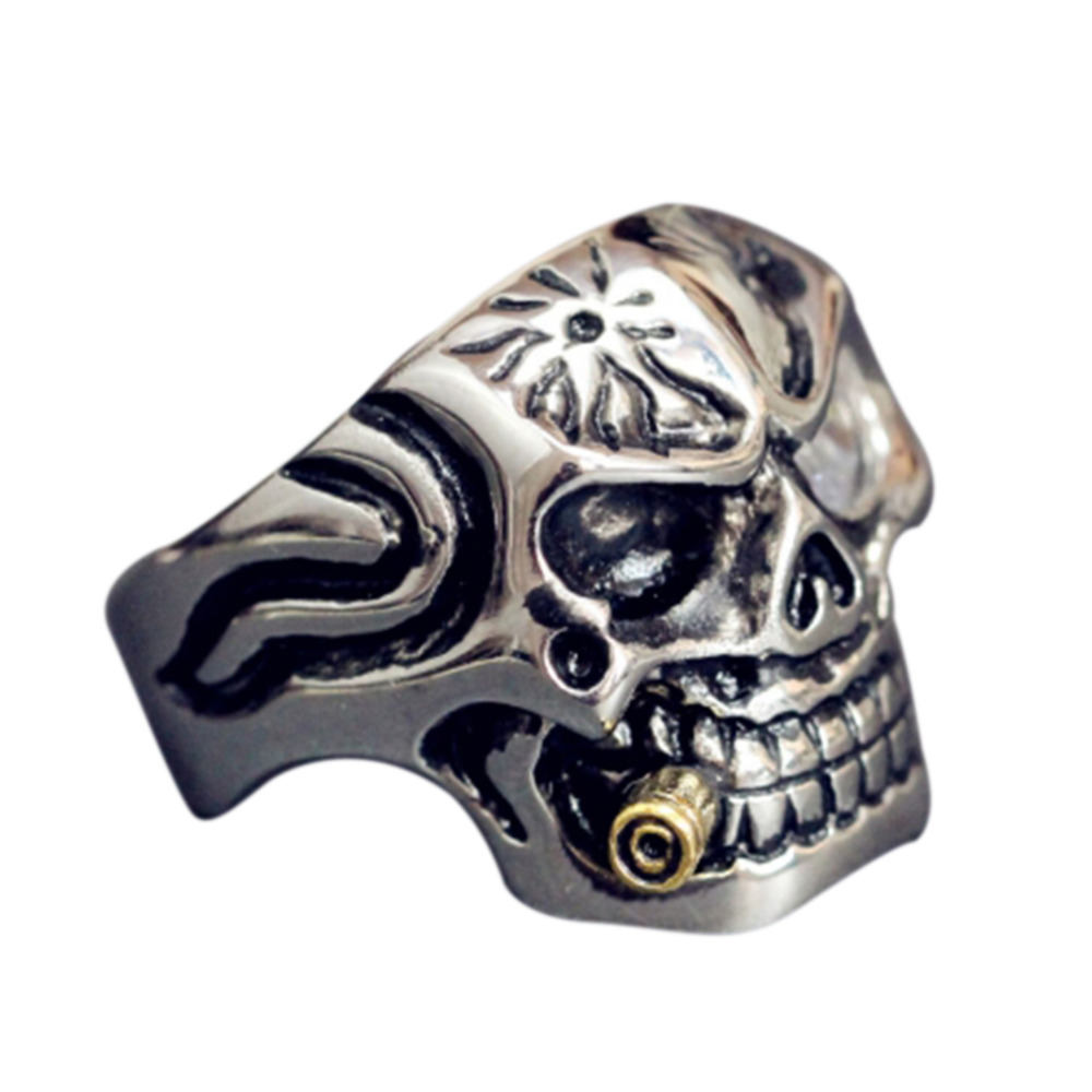 steel rings mens silver punk stainless smoke ring holder titanium for search images skeleton skull biker jewellery men