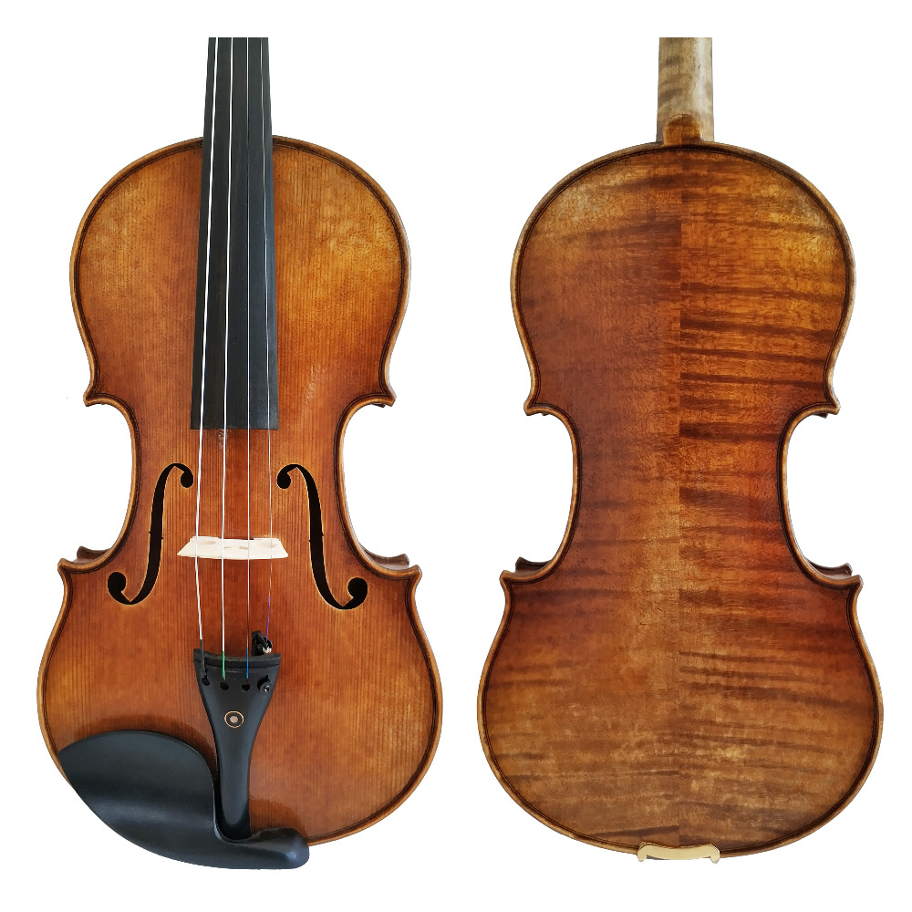 Free Shipping Copy Antonio Stradivari Cremonese 1716 Model Violin with Canvas Case and Brazil Bow Rosin FPVN01 #4 free shipping copy stradivarius 1716 100