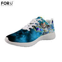 FORUDESIGNS Casual Men Shoes HOT Anime Dragon Ball Z Super Sneakers for Teenager Boys Classic Lace Up Flats Breathable Zapatos