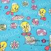 140X100cm Blue Tweety Bird Hello Sunshine Cotton Fabric For Baby Boy Clothes Sewing Patchwork DIY AFCK100