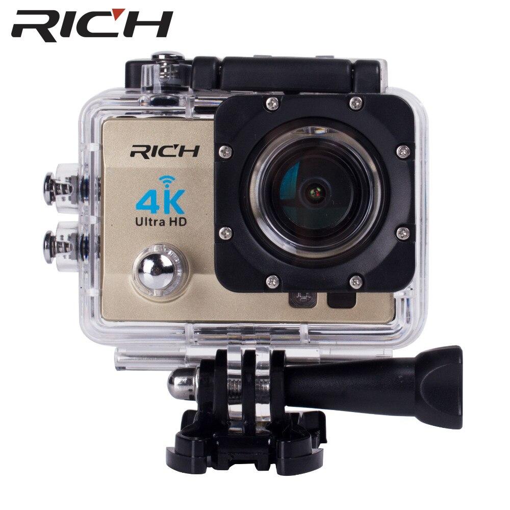 Caméra d'action riche 4 K WiFi 8000 go SJ 2.0 LCD pro 170D caméra étanche sous-marine casque caméra Sport caméra mini vidéo - 5