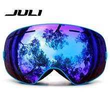 JULI New Outdoor Windproof Glasses Ski Goggles Dustproof Snow Glasses Men Motocross Riot Control Goggles Downhill BNCH