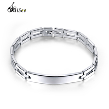 hot deal buy saisee silver bracelets men 316l stainless steel bracelets cuff wristband bracelets bangles homme fashion jewelry high polished