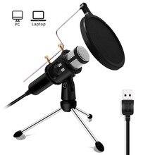 Lefon Professional PC микрофон конденсаторный набор USB разъем для YouTube Facebook Live Stream вещания запись игры