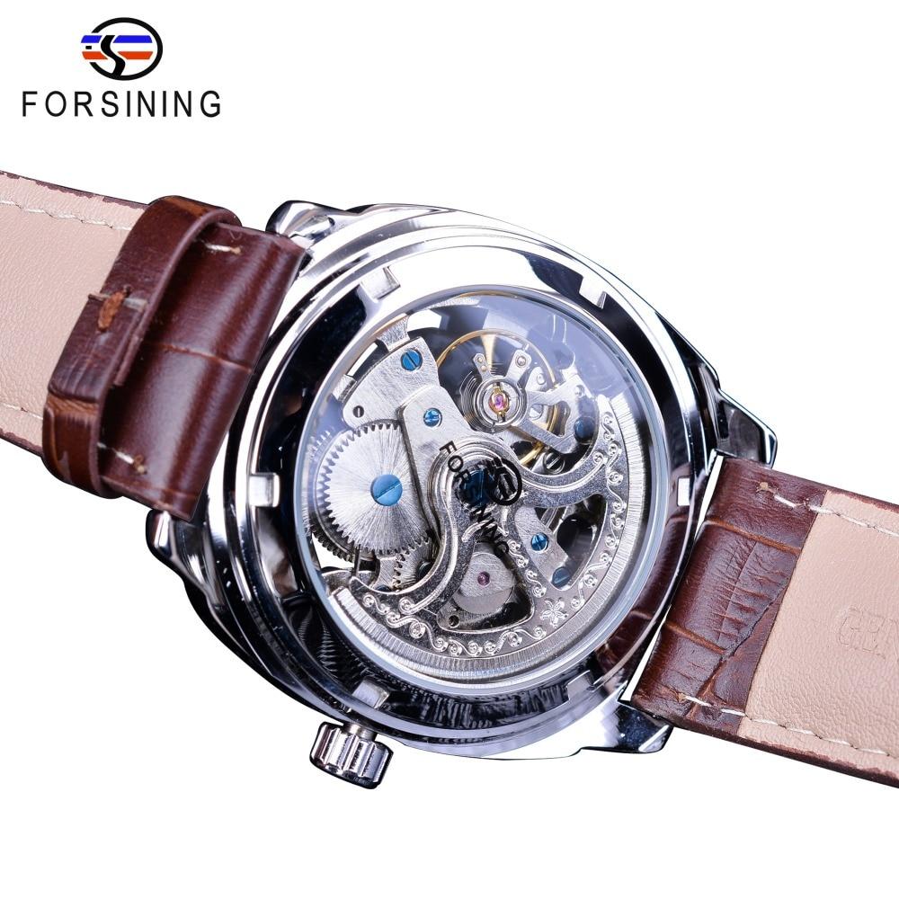 Купить часы скелетоны мужские из серебра 2018 пробы водостойкие с автоподзаводом