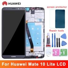 Do wyświetlacza LCD Huawei Mate 10 Lite + ekran dotykowy 5.9 Cal ekran dotykowy montaż panelu szklanego z ramką do Mate 10 Lite lcd