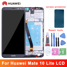 For Huawei Mate 10 Lite LCD Display+Touch Screen 5.9 Inch Digitizer Screen Glass Panel Assembly with frame for Mate 10 Lite lcd 10 1inch lcd display touch screen digitizer with frame matrix for lenovo tab 3 10 plus tb x103f lcd module screen panel