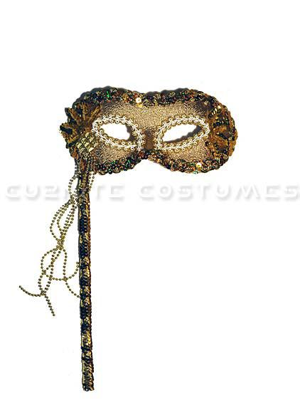 UTMEON-Venetian Masquerade Mask With Side Flower