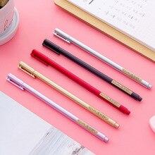 50 adet kore yaratıcı öğrenci kırtasiye simülasyon Metal nötr kalem su kalem siyah işareti kalem ofis malzemeleri