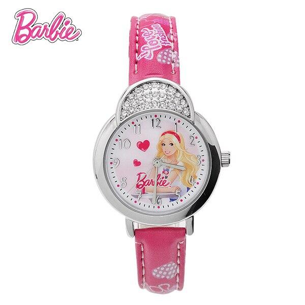 100% Подлинная Барби дети часы с бриллиантами Моды часы дети девушки Марка Кварцевые Наручные часы Reloj BA00106-1
