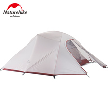 Naturehike Factory Store 2.1kg 3-4 Person Tent Double-layer waterproof fabric Camping hiking fishing Tents DHL free shipping