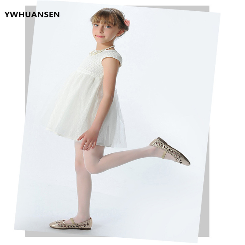 YWHUANSEN Summer Children's Tights White Dancing Thin Children's Pantyhose For Girls Baby Stockings Velvet Kids Meias Collant pretty womens open toe sheer ultra thin tights pantyhose stockings leggings