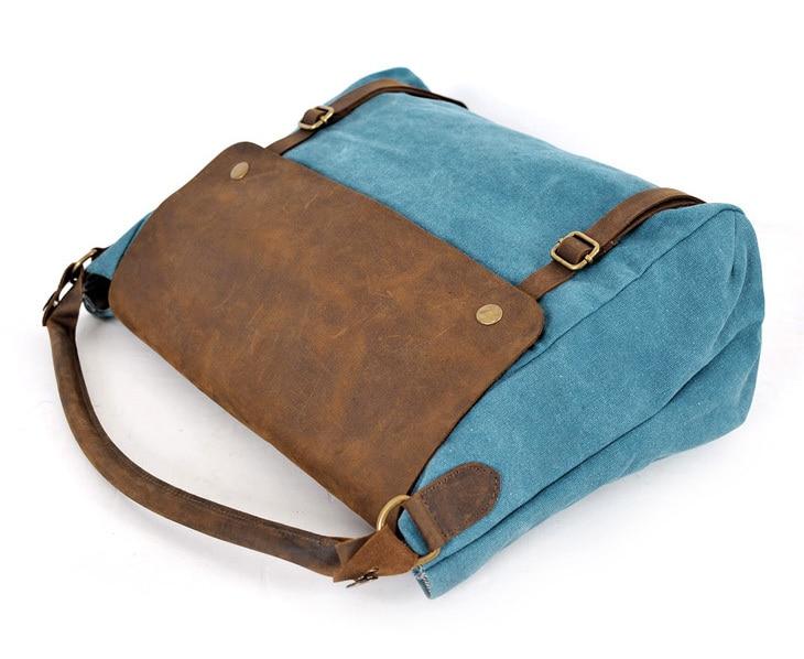 f32ccb8dbe4 2019 bolsos de lona de cuero para mujer, bolsos de mano para mujer, bolsos  de mano para mujer en Bolsas de hombro de Bolsos y maletas en  AliExpress.com ...