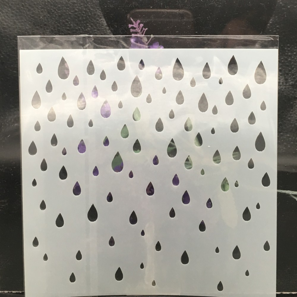15cm Raindrop DIY Layering Stencils Wall Painting Scrapbook Coloring Embossing Album Decorative Card Template