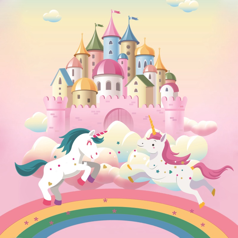 Laeacco Rainbow Unicorn Birthday Party Castle Star Poster Portrait Photography Backdrops Photo Background Photocall Photo StudioLaeacco Rainbow Unicorn Birthday Party Castle Star Poster Portrait Photography Backdrops Photo Background Photocall Photo Studio