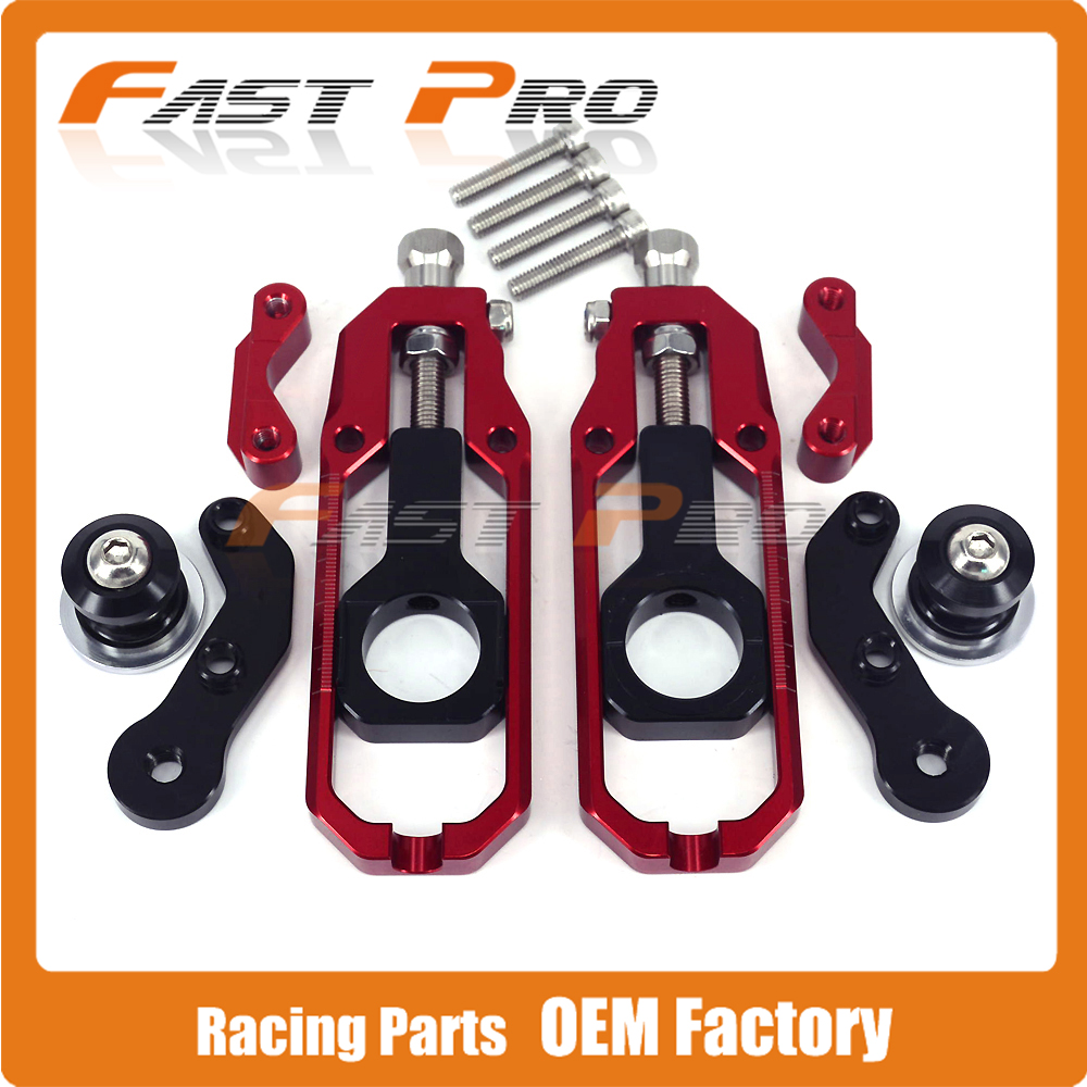 Motorcycle Chain Adjusters Tensioners With Spool for HONDA CBR600RR CBR600 RR 2007 2008 2009 2010 2011 2012 for honda cbr600rr 2007 2008 2009 2010 2011 2012 motorbike seat cover cbr 600 rr motorcycle red fairing rear sear cowl cover