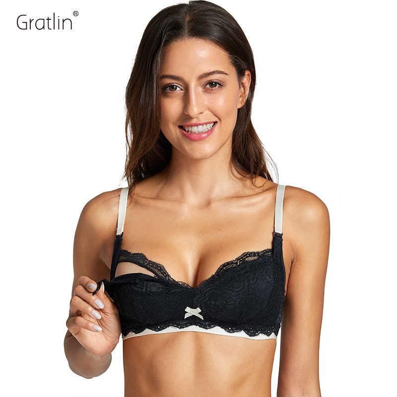 57d3ac0acc5 GRATLIN Breastfeeding Maternity Nursing Bra Underwear Wireless No-padded  Feeding For Pregnant Women