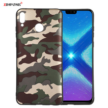 Fundas Army Camo Camouflage Case sFor Huawei Honor 8X Soft TPU Silicone Phone Cases Back Cover On Max