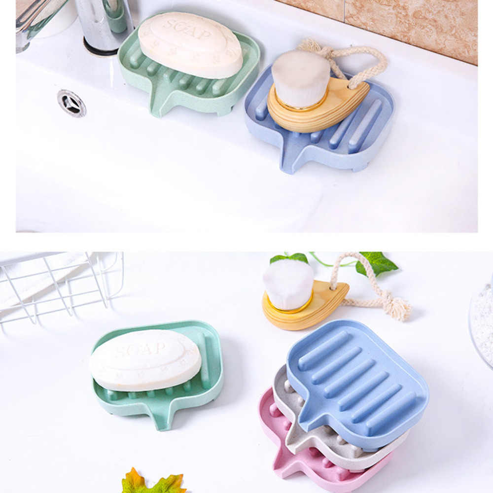 Opróżniania pudełko na mydło kubek do przechowywania Rack mydelniczka drenaż mydelniczka pudełko do przechowywania kuchnia wanna z hydromasażem gąbka do łazienki 4 kolory z0329 # D20